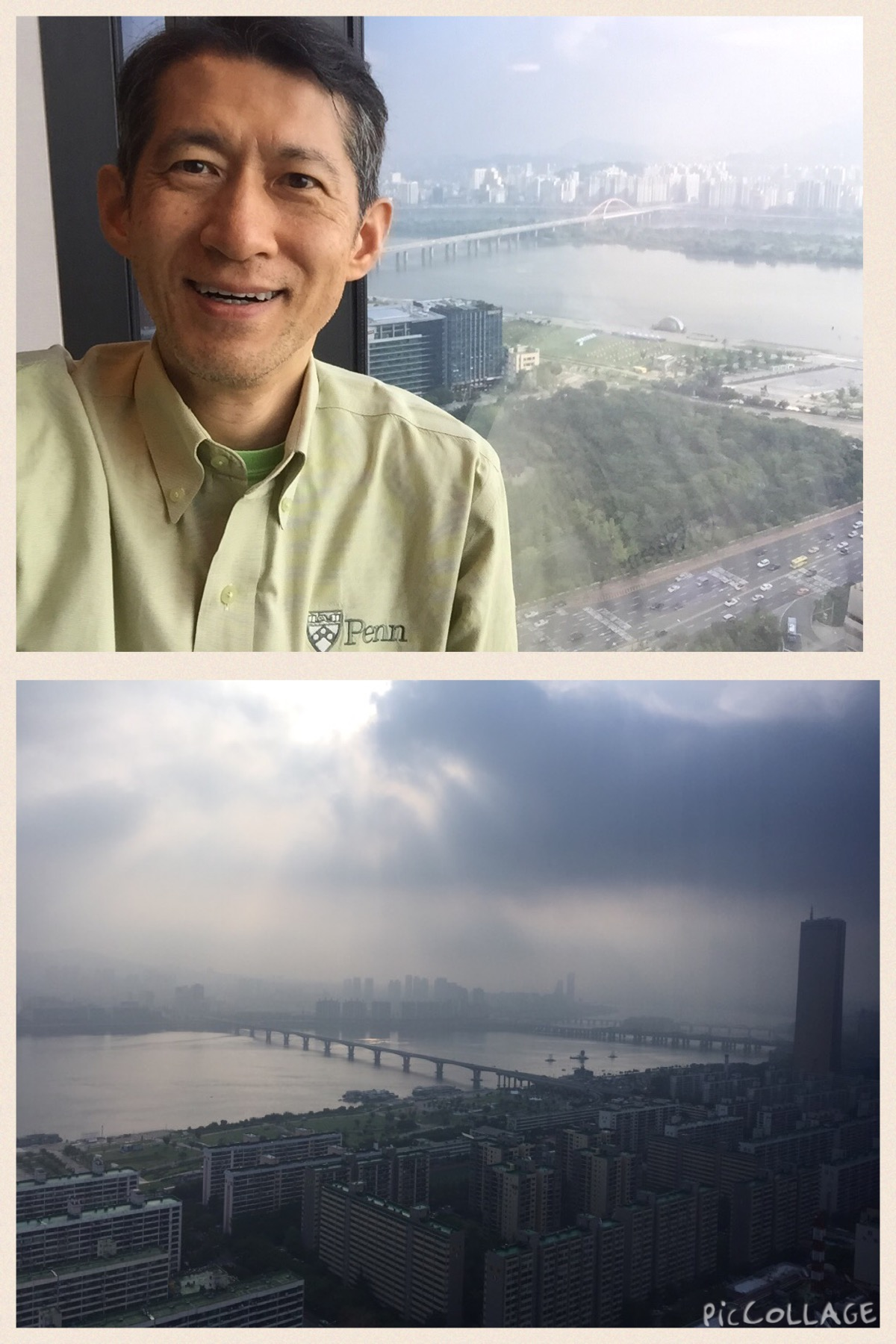 ソウルConrad客室からの景色と幹夫写真 (1).JPG
